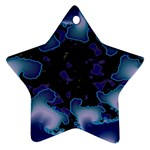 blue%20design%20wave%202-662985 Star Ornament (Two Sides)