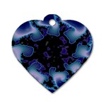 blue%20design%20wave%202-662985 Dog Tag Heart (Two Sides)