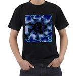 blue%20design%20wave%202-662985 Black T-Shirt