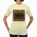 abstract_formula_wallpaper-387800 Women s Yellow T-Shirt