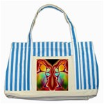 Cyber_Mirror-364694 Striped Blue Tote Bag