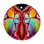 Cyber_Mirror-364694 Round Ornament (Two Sides)