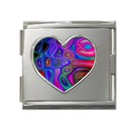 space-colors-2-988212 Mega Link Heart Italian Charm (18mm)