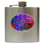 space-colors-2-988212 Hip Flask (6 oz)
