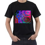 space-colors-2-988212 Black T-Shirt (Two Sides)