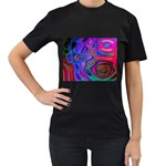 space-colors-2-988212 Women s Black T-Shirt (Two Sides)