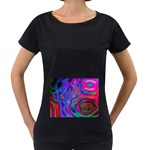 space-colors-2-988212 Maternity Black T-Shirt