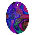 space-colors-2-988212 Oval Ornament (Two Sides)