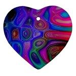 space-colors-2-988212 Heart Ornament (Two Sides)
