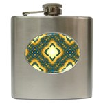 Subway_sign Hip Flask (6 oz)