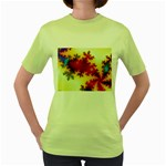 goglow-153133 Women s Green T-Shirt
