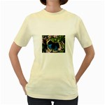 butterfly_4 Women s Yellow T-Shirt