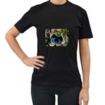 butterfly_4 Women s Black T-Shirt (Two Sides)