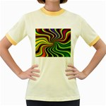 hippy-550591 Women s Fitted Ringer T-Shirt