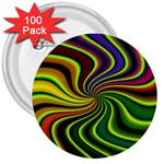 hippy-550591 3  Button (100 pack)
