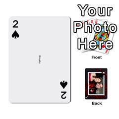 Josh Wedding By Sherri   Playing Cards 54 Designs   4lzlfyo8mov7   Www Artscow Com Front - Spade2