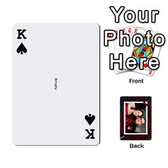 King Josh Wedding By Sherri   Playing Cards 54 Designs   4lzlfyo8mov7   Www Artscow Com Front - SpadeK