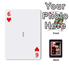 Josh Wedding By Sherri   Playing Cards 54 Designs   4lzlfyo8mov7   Www Artscow Com Front - Heart6