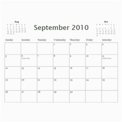 Calendar 2010 By Hope   Wall Calendar 11  X 8 5  (12 Months)   Yo16mvw0c68x   Www Artscow Com Sep 2010