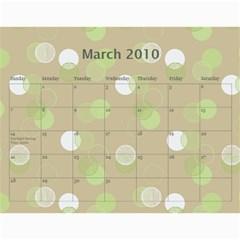 Family Calendar By Kelsey   Wall Calendar 11  X 8 5  (12 Months)   9q86itnjsnrv   Www Artscow Com Mar 2010