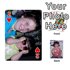 Betts Family By Peggy Betts   Playing Cards 54 Designs   Bkiyt6w55xdz   Www Artscow Com Front - Heart2