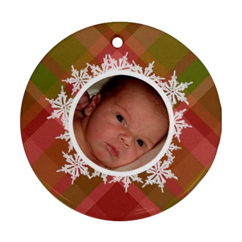 Family Christmas Ornament By Klh Front