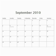 Dare 2010 Calendar By Marie   Wall Calendar 11  X 8 5  (12 Months)   Kztjsn44dcsa   Www Artscow Com Sep 2010