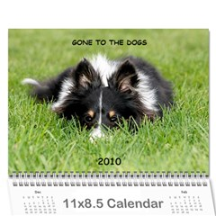 Gone To The Dogs 2010 Calendar By Marie   Wall Calendar 11  X 8 5  (12 Months)   H0w3vw0n42v3   Www Artscow Com Cover