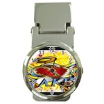 Taken-Tattoo-Belt-Buckle Money Clip Watch