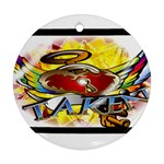 Taken-Tattoo-Belt-Buckle Round Ornament (Two Sides)