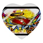 Taken-Tattoo-Belt-Buckle Heart Ornament (Two Sides)