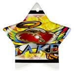 Taken-Tattoo-Belt-Buckle Star Ornament (Two Sides)