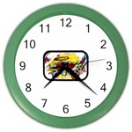 Taken-Tattoo-Belt-Buckle Color Wall Clock