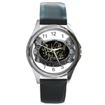 Rock-n-Roll-For-Life-Tattoo-Belt-Buckle Round Metal Watch