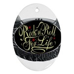 Rock-n-Roll-For-Life-Tattoo-Belt-Buckle Ornament (Oval)