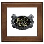 Rock-n-Roll-For-Life-Tattoo-Belt-Buckle Framed Tile