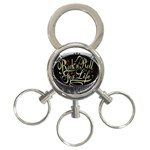 Rock-n-Roll-For-Life-Tattoo-Belt-Buckle 3-Ring Key Chain