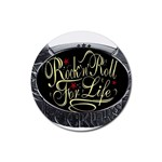 Rock-n-Roll-For-Life-Tattoo-Belt-Buckle Rubber Round Coaster (4 pack)
