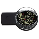Rock-n-Roll-For-Life-Tattoo-Belt-Buckle USB Flash Drive Round (2 GB)