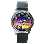 2-77-Animals-Wildlife-1024-010 Round Metal Watch