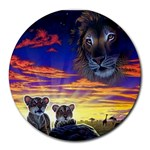 2-77-Animals-Wildlife-1024-010 Round Mousepad