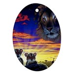 2-77-Animals-Wildlife-1024-010 Ornament (Oval)