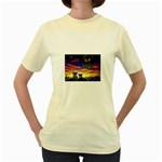 2-77-Animals-Wildlife-1024-010 Women s Yellow T-Shirt
