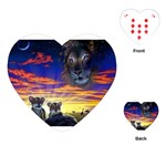 2-77-Animals-Wildlife-1024-010 Playing Cards (Heart)