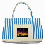 2-77-Animals-Wildlife-1024-010 Striped Blue Tote Bag