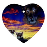 2-77-Animals-Wildlife-1024-010 Heart Ornament (Two Sides)