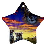 2-77-Animals-Wildlife-1024-010 Star Ornament (Two Sides)