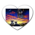 2-77-Animals-Wildlife-1024-010 Mousepad (Heart)