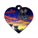2-77-Animals-Wildlife-1024-010 Dog Tag Heart (Two Sides)