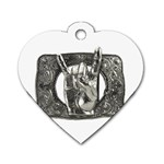 31035 Dog Tag Heart (Two Sides) from ArtsNow.com Front
